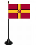 Northamptonshire Desk / Table Flag with plastic stand and base.